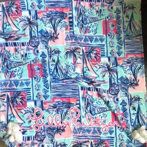 Lilly Pulitzer yeah buoy beach towel new